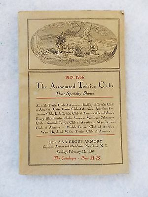 Vintage 1917-1956 The Associated Terrier Club Show Catalogue Book