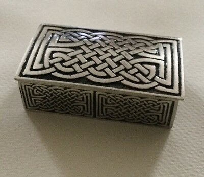 A E WIlliams Pewter Knot Work Trinket Box