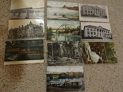Great Vintage Lot of 10 Early 1900s Eau Claire Wisconsin Postcards