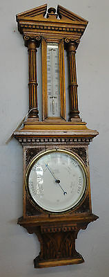 "CARVED Antique Barometer 37"" Tall - EXCELLENT"