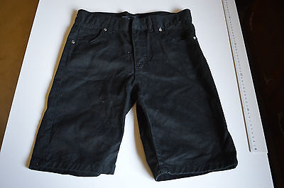 denim shorts.pre-owned. size 12 by shock resistant. colour black