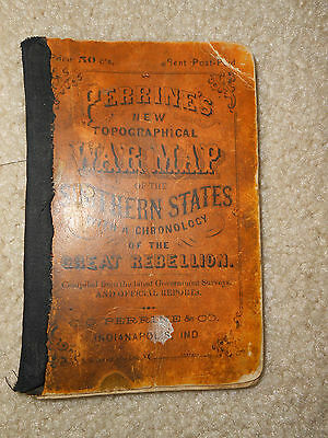 Civil War 1864 Perrine's New Topographical War Maps of the Southern States Book
