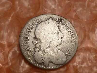 1683/4 3 Over 4 Charles II Colonial Silver Maundy Fourpence #2