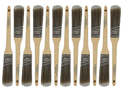 "BIG 12 PACK 1""Angle Sash PRO PERFECT PAINT BRUSH LOT"