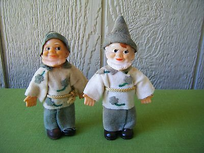 Vintage 2 Collectible Gnome's Figures Doll's Asian Japan Christmas Gift