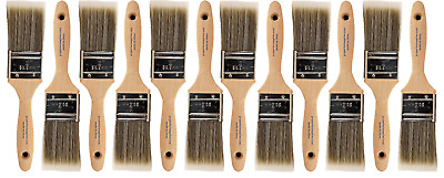 "BIG 12 PACK 2"" Flat Sash PRO PERFECT PAINT BRUSH LOT"