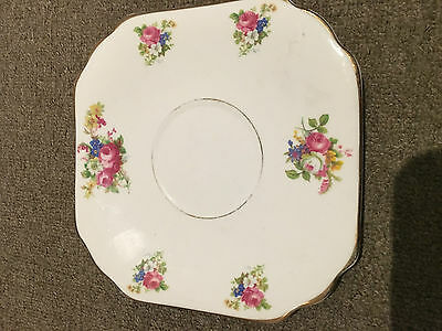 Duchess Bone China Plate - Gold And Floral - Pre-Owned