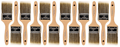"BIG 12 PACK 2 1/2"" Flat Sash PRO PERFECT PAINT BRUSH LOT"