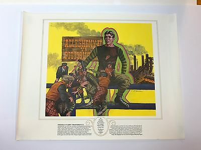 Vintage 1979 Seagram's Seven Football First Hall of Fame Print