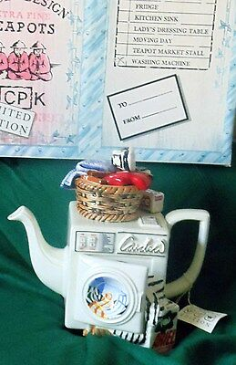 Paul Cardew Washing machine limited edition Teapot  new & Boxed