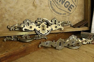 "6 French Provincial with escutcheon brass 4 7/8"" center pull item 288"