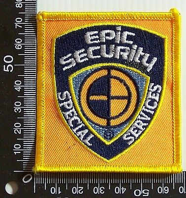 Vintage Epic Security Usa Embroidered Souvenir Patch Woven Cloth Sew-On Badge