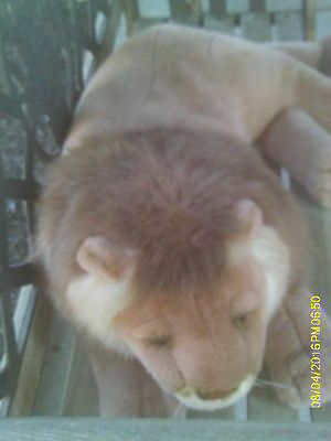 """Nice 45"""" Long Plush Realistic African Maned Male Lion"""