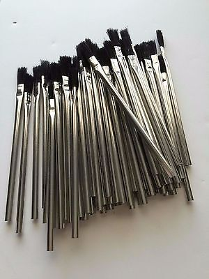 "Lot Of 144  Acid Flux Brush 6"" Lg X 3/8"" Solder, Plumbing, Glues, Touch Ups"