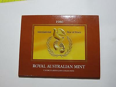 1986 Australia Mint Unc Set $1 50 20 Year Of Peace Old World Collection Coin Lot