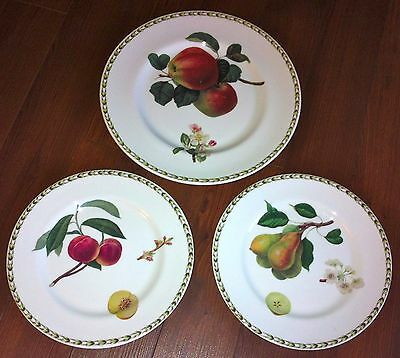 Rosina Queens England HOOKERS FRUIT One Dinner Plate and Two Salad Plates