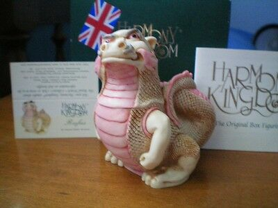 Harmony Kingdom Rufus Red Dragon Marble Resin Box Figurine UK Made LE Sgn