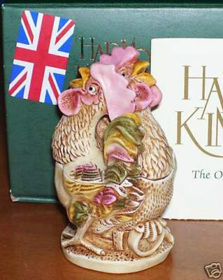 Harmony Kingdom Lords of the Roost Roosters Marble Resin Box Figurine UK Made