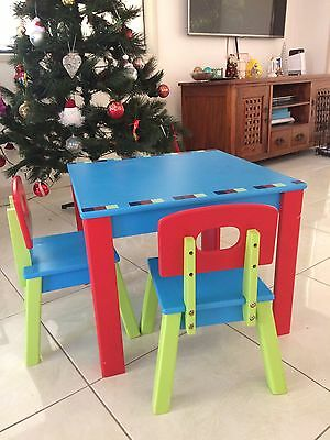 ELC kids wooden table and chairs