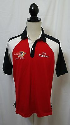 Gilbert Emirates Rugby 7S South Africa Irb Mens Team Polo Shirt Top Great Cond