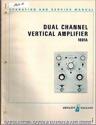 HP Manual 1801A DUAL CHANNEL VERTICAL AMPLIFIER
