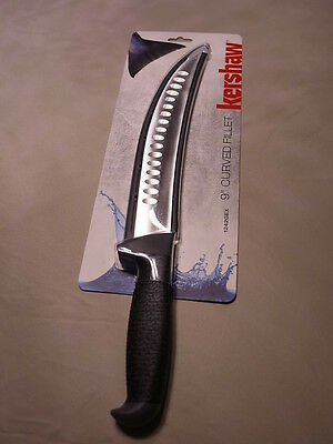 "The Best Salmon Filleting knife  Kershaw 9"" Curved Fillet Knife"
