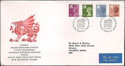 Great Britain #WMMH21//WMMH53 Wales FDC, 1984