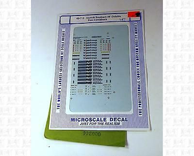 Microscale N Decals Norfolk Southern NS Outside Post Containers 60-713