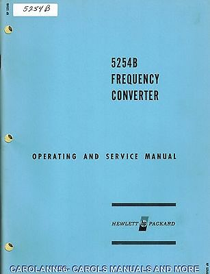 HP Manual 5254B FREQUENCY CONVERTER
