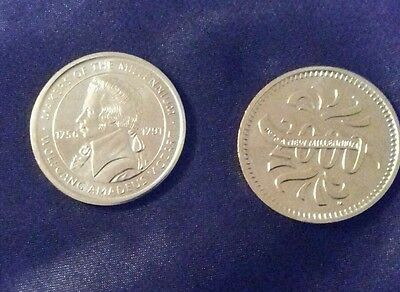 Makers Of The Millenium WOLFGANG AMADEUS MOZART Medal Coin