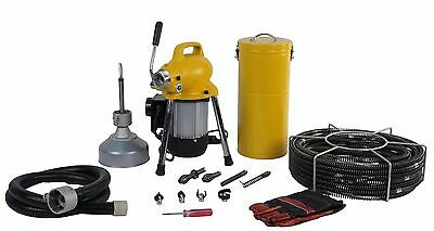 "SDT K-50 Drain Cleaner Snakes 4"" Sewer Pipe Cleaning Machine fits RIDGID® 58980"