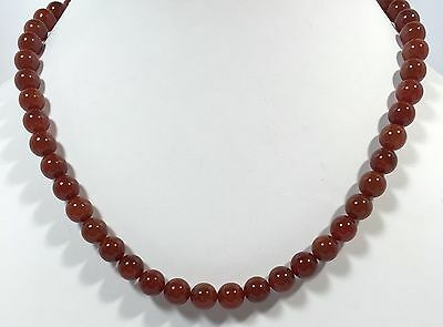 ct 180.00 Natural Carnelian Beads Necklace Jewellery Gemstone free shipping,,