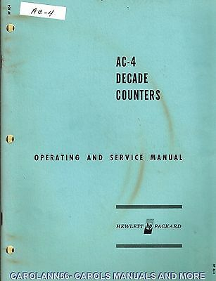 HP Manual AC-4 DECADE COUNTERS