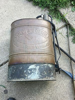 vtg volpi & bottoli  Copper Brass Tank Backpack Sprayer Lawn Insecticide