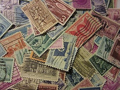 Old timers stamp lot ALL DIFFERENT USED USA 3 CENTS COMMEMORATIVES FREE SHIPPING