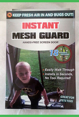 NEW INSTANT MESH GUARD Hands Free Bug Mosquito Fly Pets Screen Door RV Christmas