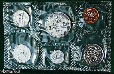 1976 Canada Prooflike PL set - 6 perfect coins in original packaging - complete