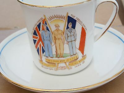 Royal Stafford Tea Cup & Saucer - Peace with Honour