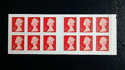 RED 1st Class MACHIN FORGERY BOOKLET OF 12 M14L MTIL
