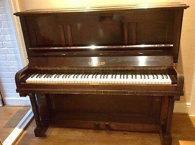 upright piano W.J Evans & Sons
