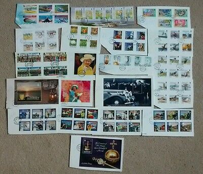 Alderney USED Sets and Miniature Sheets Ex FDC on paper
