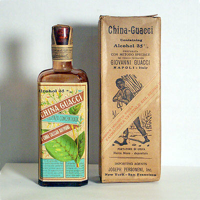 "Antique 1889 ""China Guacci"" an effective remedy against malaria"