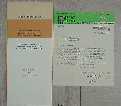 STIMPSON BROTHERS NORTHAMPTON TANNERS, Documents