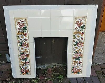 Lovely Fireplace / Surround with Old Tiles