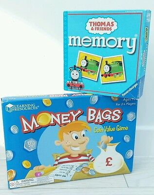 Fantastic Children's Learning Resources Money Bags Coin Value Game & Memory Game