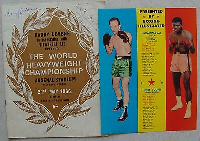ARSENAL FC: BOXING PROGRAMME Ali v Cooper 1966 AUTOGRAPHED includes Supplement!
