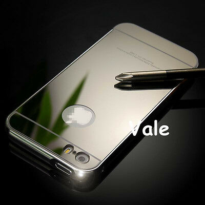 Luxury Metal Aluminum Frame Ultra-thin Mirror Back Case Cover For iPhone 5 5S #