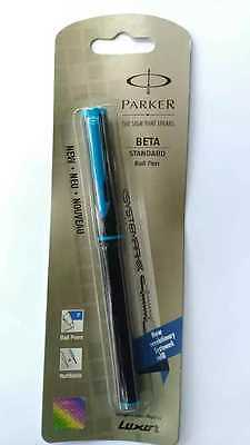1 pen - Parker Beta Standard Ball Pen (BLACK & BLUE) -#u-FREE SHIPPING
