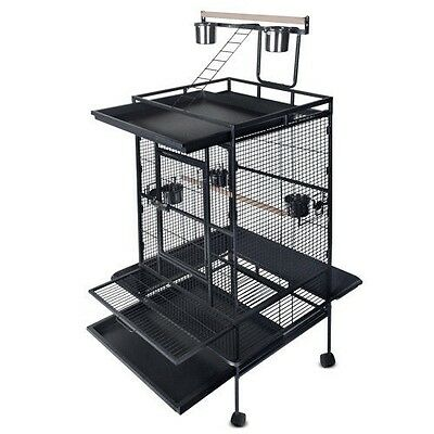 Bird Cage Parrot Aviary Pet Stand-alone Budgie Castor Wheels Super Large 170cm