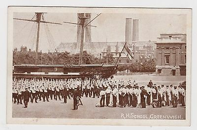 Super Old Card Of The Navy Royal Hospital School Greenwich About 1910 Animated